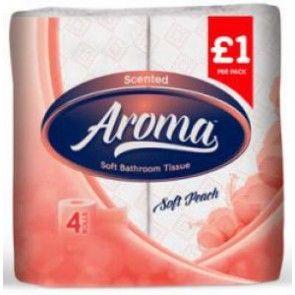 Aroma bathroom tissue soft peach