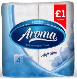 Aroma bathroom tissue soft blue
