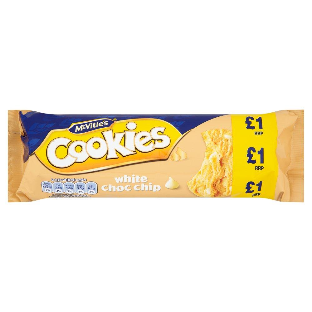 Mcvities white choc chip cookies