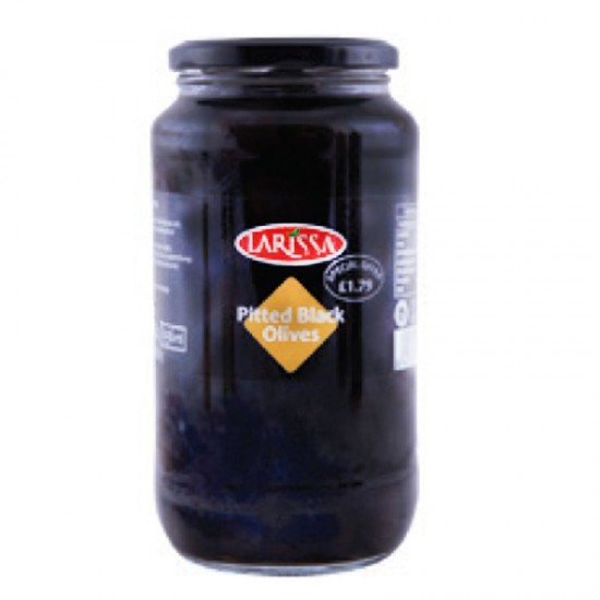 Larissa Pitted Black Olives