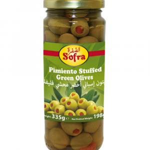 Sofra Pimiento Green Olives