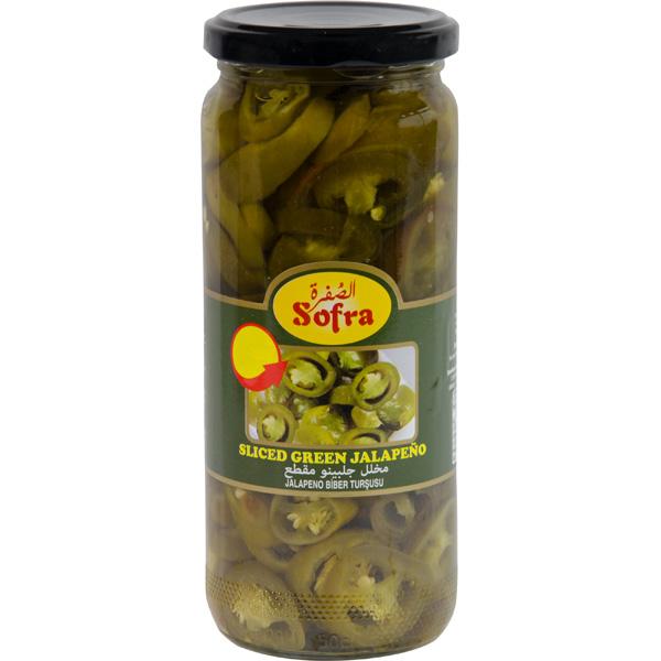 Sofra sliced green jalapeño