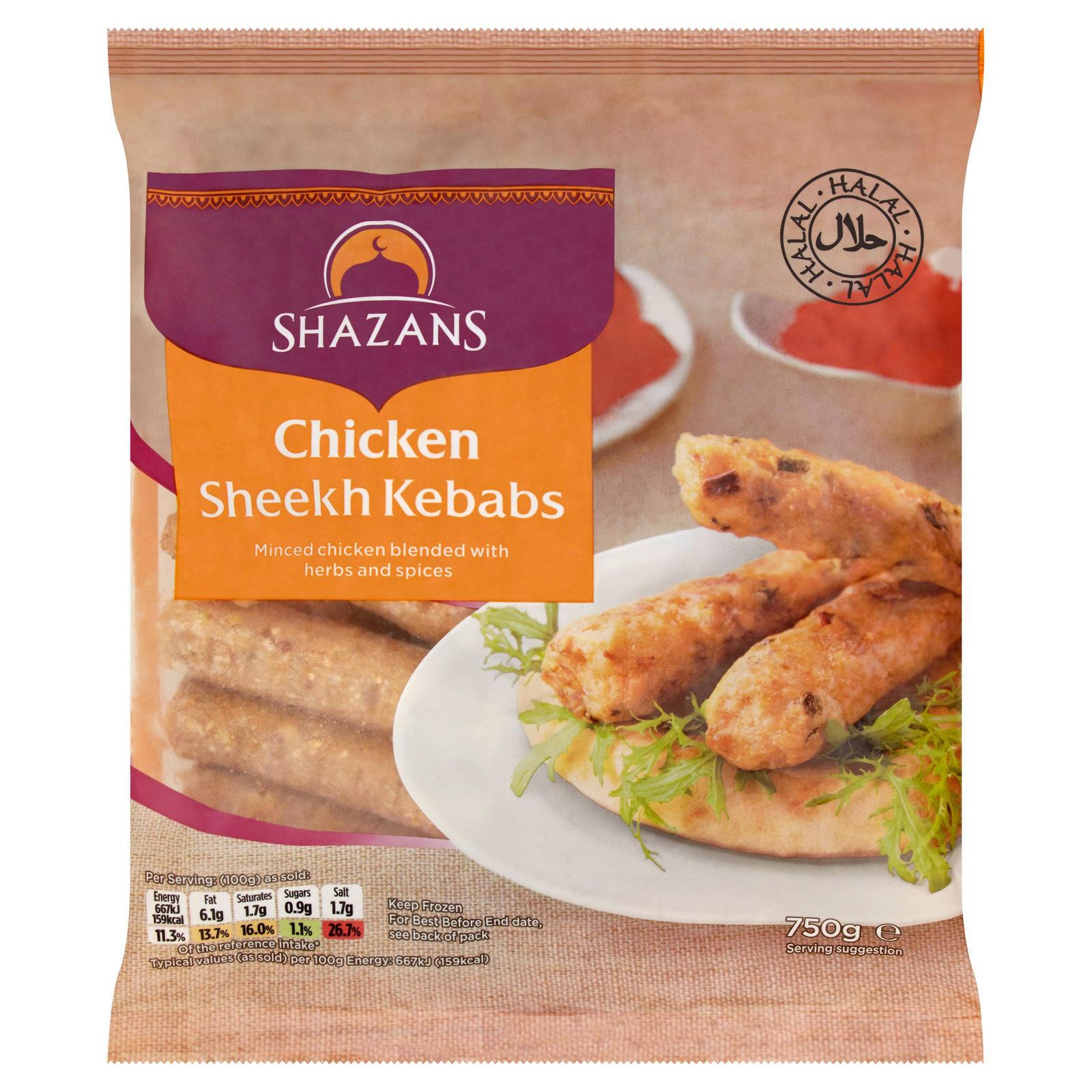 Shazan Chicken frozen seekh kebabs