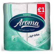 Aroma bathroom tissue soft white