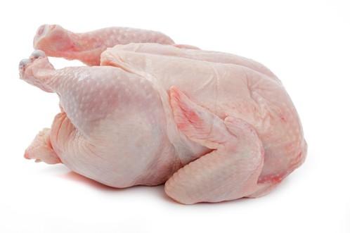 Whole chicken skin on
