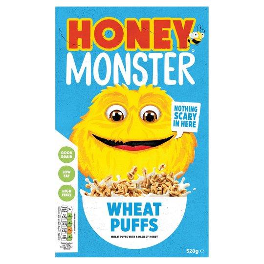 Honey monster wheat puffs
