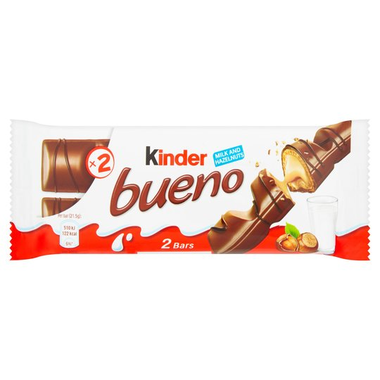 Kinder Bueno Milk & Hazelnuts 2 Bars