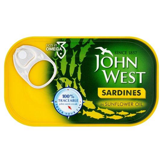 JohnWest Sardines in Sunflower Oil
