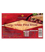 Leicester Bakery Large White Pitta Bread