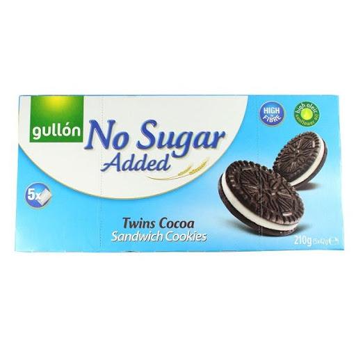 Gullon no added sugar sandwich cookies