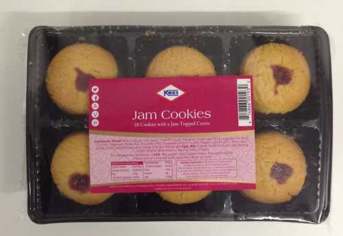 KCB Jam Cookies with a Jam Topped Centre