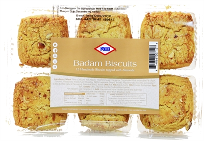 KCB BAdam Biscuits topped with Almonds