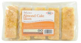 KCB Almond Cake Slices with Jam and A creamed filling