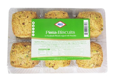 KCB Pista Biscuits topped with Pistachio