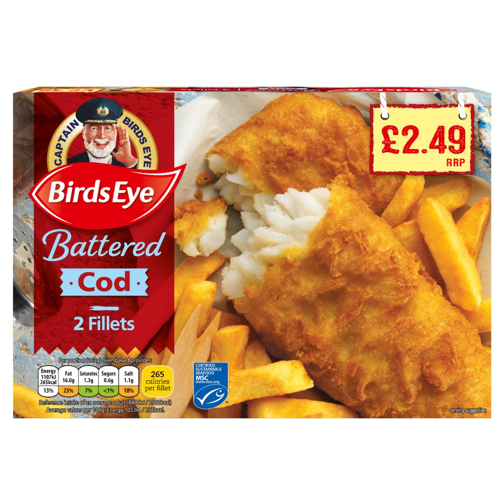 Birdseye Battered Cod