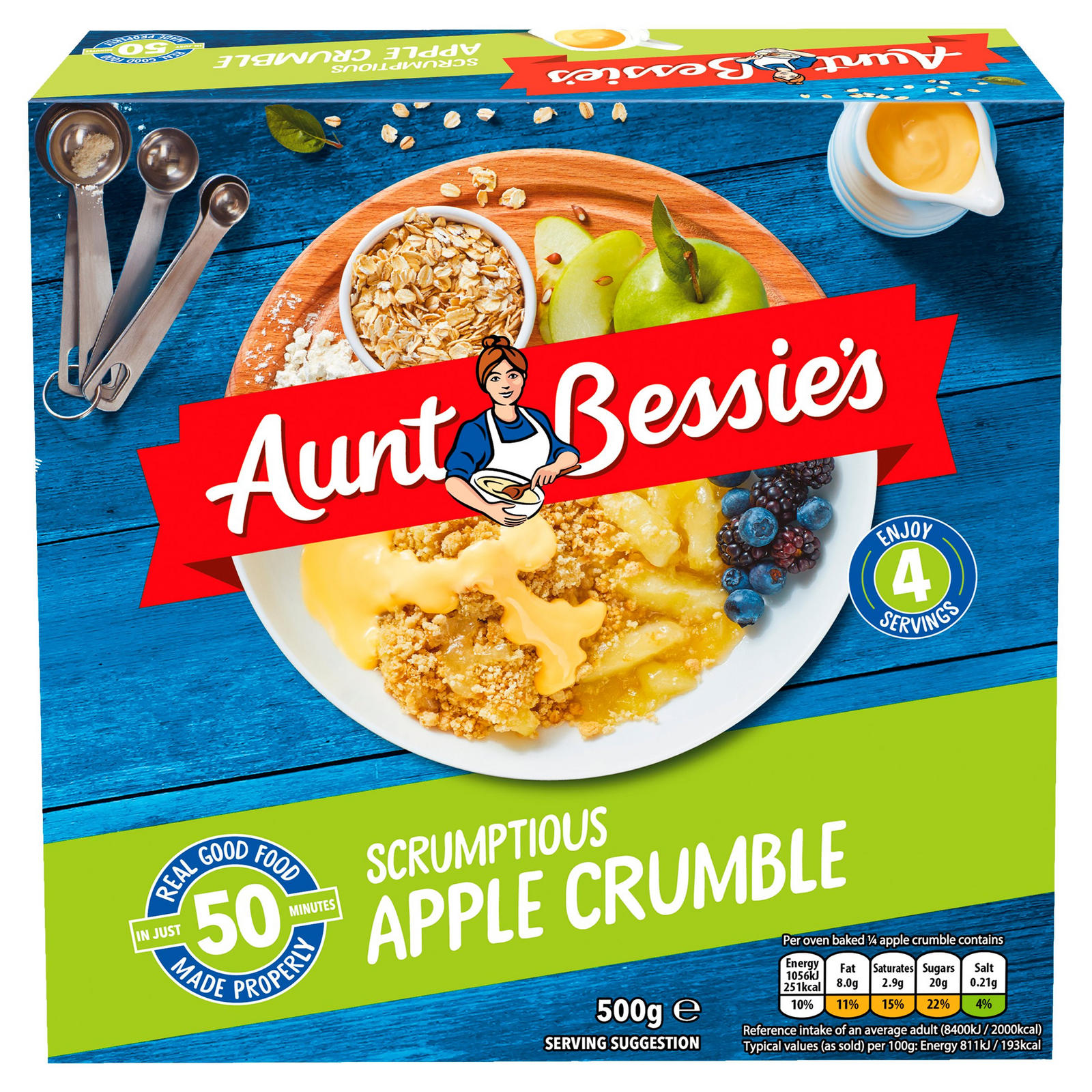 Aunt Bessies Apple Crumble