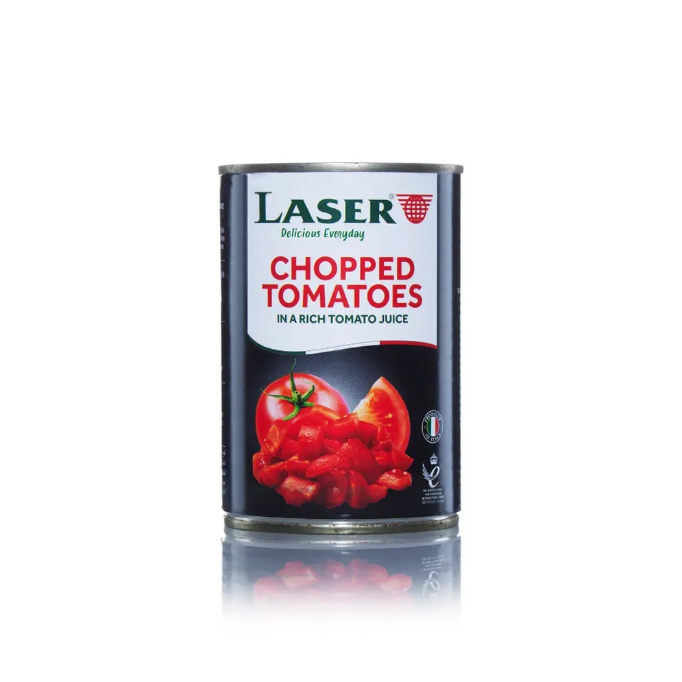Laser Chopped Tomatoes